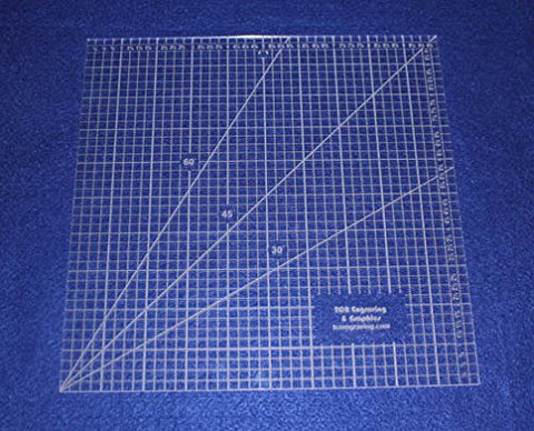 "Square Ruler 10"". - Clear Acrylic - Quilting/Sewing - Template 1/8"""