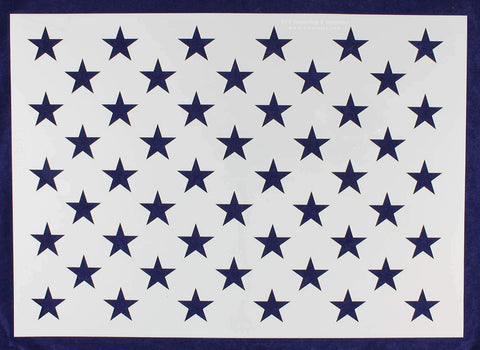 50 Star Field Stencil US American Flag G-Spec 20.16 Inches