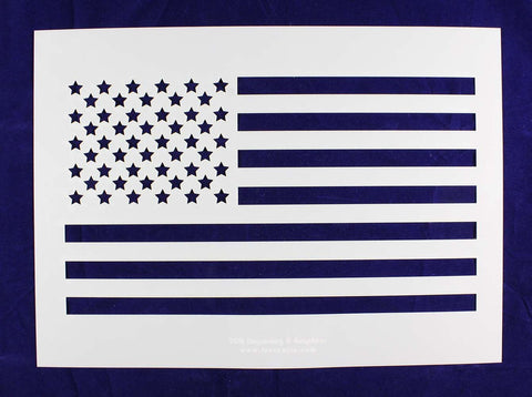 Us Flag Stencil - Straight-14 mil Mylar- Painting /Crafts/ Templates
