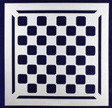 "Chess/Checkerboard with Border Stencil 14 Mil -12"" X 12"" - Painting/Crafts/ Templates"