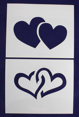 "Large Hearts 2 Piece Stencil Set 14 Mil 8"" X 10"" Painting /Crafts/ Templates"