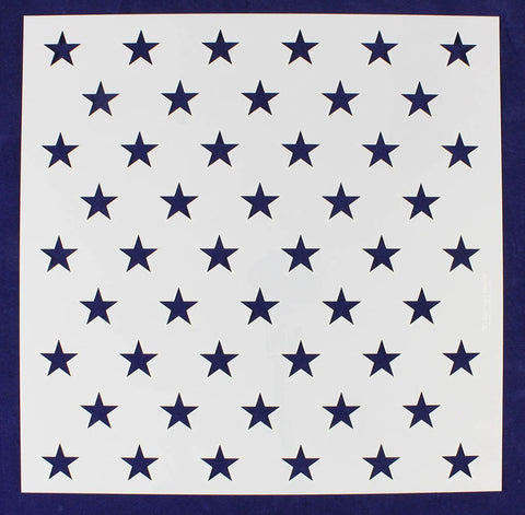 "50 Star Field Stencil 14 Mil -15 3/8""H x 15 7/16""W - Painting /Crafts/ Template"