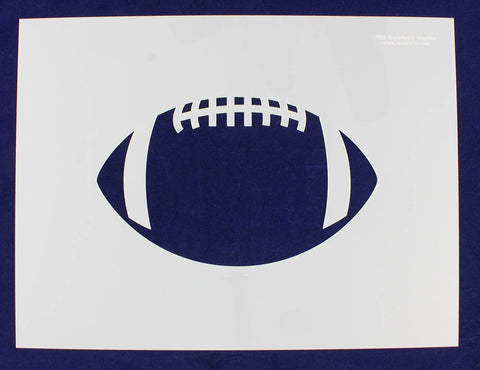 Extra Large Football Stencil 14 Mil Painting /Crafts/ Templates