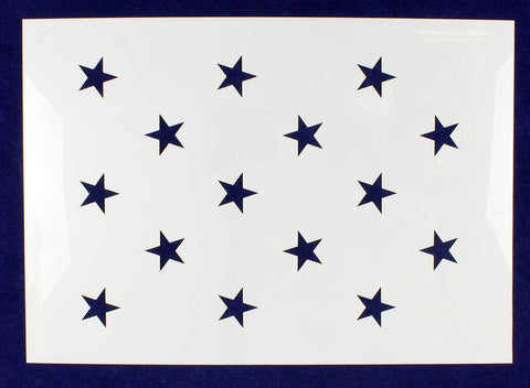 "15 Star Field ""Star Spangled Banner"" Stencil 14 Mil -US G Spec 10.5 x 14.82"" Long Star Field- Painting /Crafts/ Templates"