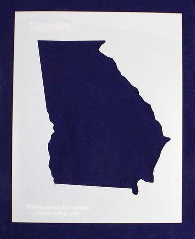 State of Georgia Stencil 14 Mil Mylar - Painting /Crafts/ Templates