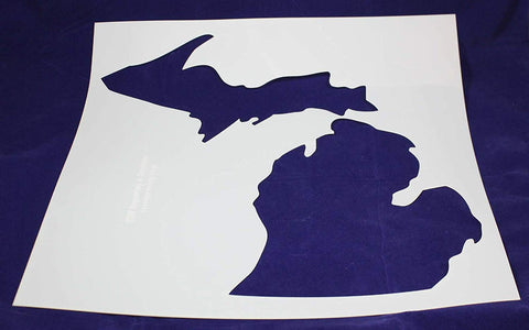"State of Michigan Stencil-Mylar 14 Mil -19""H X 17.5""W - Painting /Crafts/ Templates"
