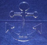 "Anchor 5"" X 6"" High - Clear ~3/8"" Thick Acrylic"