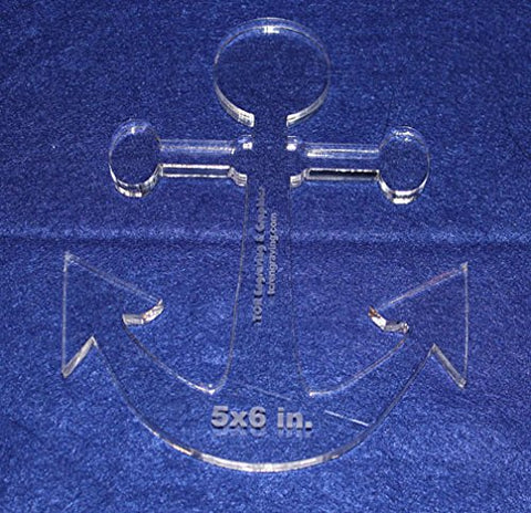 "Anchor 5"" X 6"" High - Clear ~3/8"" Thick Acrylic Template"