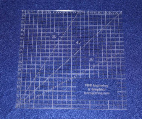 "6"" Square Ruler. Acrylic 1/8"" thick. Quilting/Sewing"