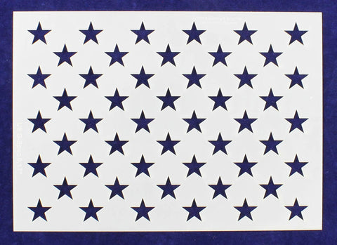 "50 Star Field Stencil 14 Mil -G-Spec 9.17"" - Painting /Crafts/ Templates"