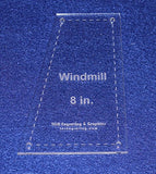 "Windmill Quilting Template- For 8"" Square Clear 1/8"""