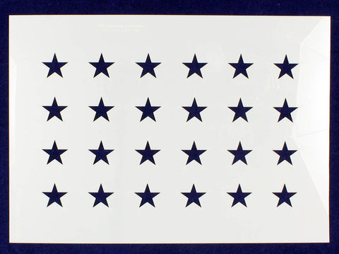 "24 Star Field ""Old Glory"" Stencil 14 Mil -US G Spec 10.5 x 14.82"" Long Star Field- Painting /Crafts/ Templates"