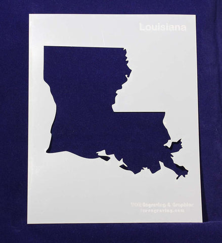 "State of Louisiana Stencil 14 Mil 8"" X 10"" Painting /Crafts/ Templates"