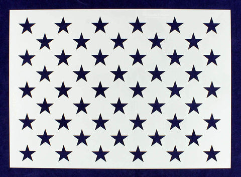 50 Star Field Stencil - US/American Flag - G-Spec 8""