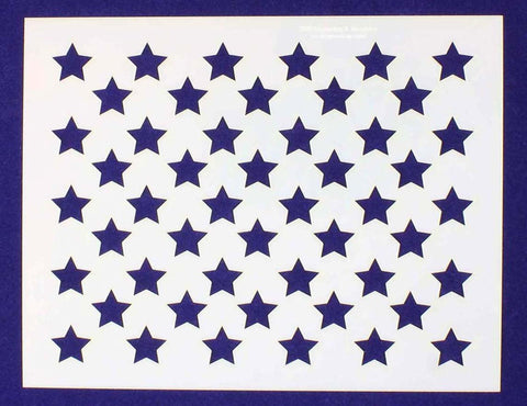 "50 Star Field Stencil 14 Mil -6""H X 7.75L"" - Painting /Crafts/ Templates"