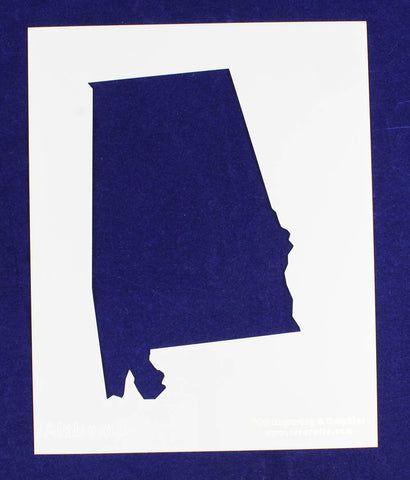 "State of Alabama Stencil 14 Mil 8"" X 10"" Painting /Crafts/ Templates"