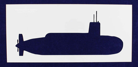 "Submarine Stencil 6.5"" X 14"" -14 Mil Mylar Painting /Crafts/ Templates"