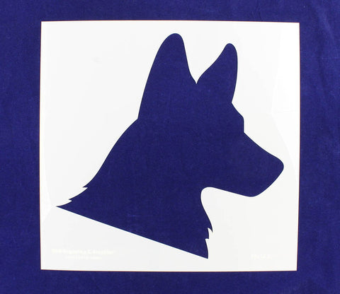 "German Shepard Silhowette 15""w x 14.5""h Stencil - Painting /Crafts/ Templates"