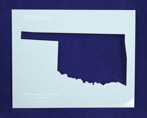 State of Oklahoma Stencil 14 Mil Mylar - Painting /Crafts/ Templates