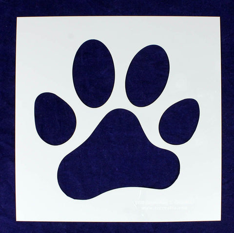 "12.55"" Large Paw Print Stencil -Mylar 1 Piece of 14 Mil - Painting /Crafts"