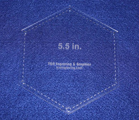 "5.5 Inch Hexagon w/Seam- 6"" Actual Overall - 1/8"""
