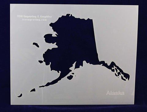 "State of Alaska Stencil 14 Mil 8"" X 10"" Painting /Crafts/ Templates"