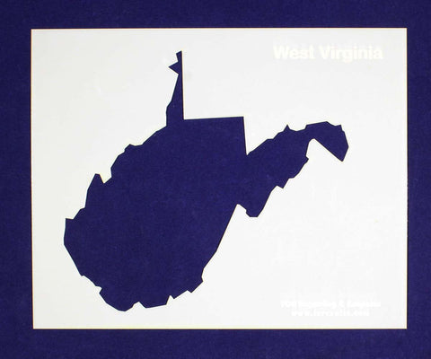 "State of West Virginia Stencil 14 Mil 8"" X 10"" Painting /Crafts/ Templates"