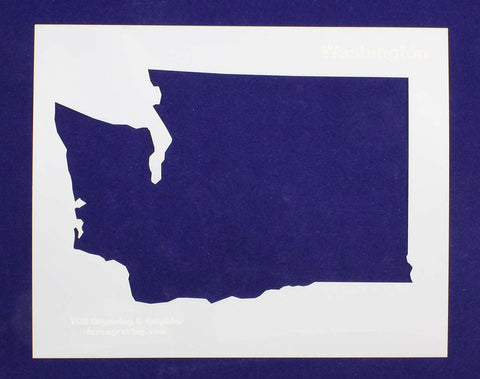 "State of Washington Stencil 14 Mil 8"" X 10"" Painting /Crafts/ Templates"