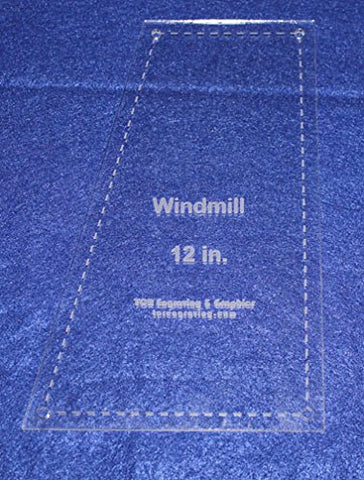 "Windmill Quilting Template- For 12"" Square Clear 1/8"""