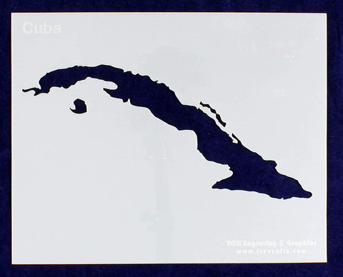"Cuba Stencil 14 Mil 8"" X 10"" Painting /Crafts/ Templates"