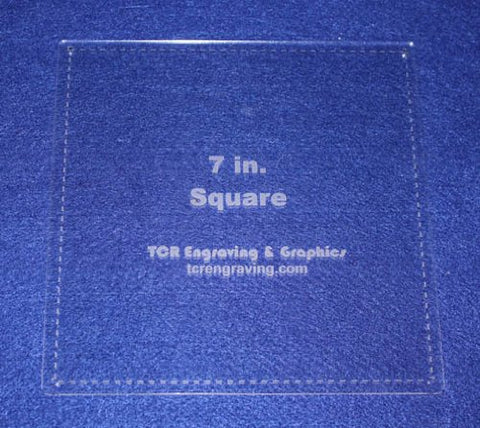 "Square Template 7"" - Clear 1/8"" with Seam Allowance"