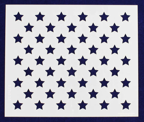 "50 Star Field Stencil 14 Mil-9.75"" x 8.25"" - Painting /Crafts/ Templates"