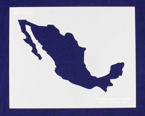 "Country of Mexico Stencil 14 Mil 8"" X 10"" Painting /Crafts/ Templates"