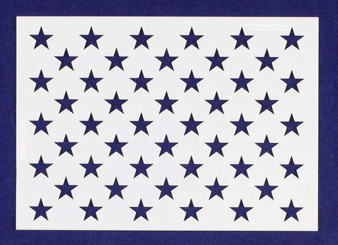 "50 Star Field Stencil - US/American Flag - G-Spec - 7.08""H x 10""L"