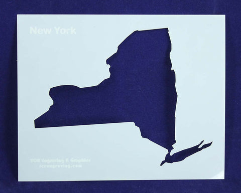 State of New York Stencil 14 Mil - Painting /Crafts/ Templates