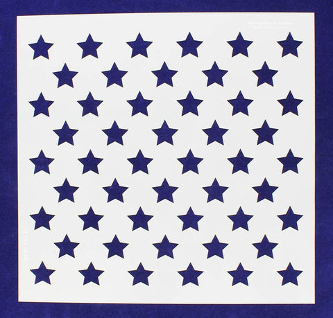 "50 Star Field Stencil 14 Mil -14 1/8""W x 14 1/14""W - Painting /Crafts/ Template"