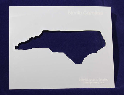 "State of North Carolina Stencil 14 Mil 8"" X 10"" Painting /Crafts/ Templates"