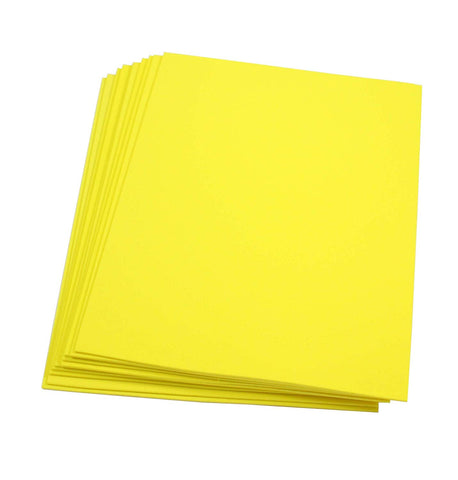 "Craft Foam -9"" x 12"" Sheets-Yellow-10 Pack- 2mm thick"