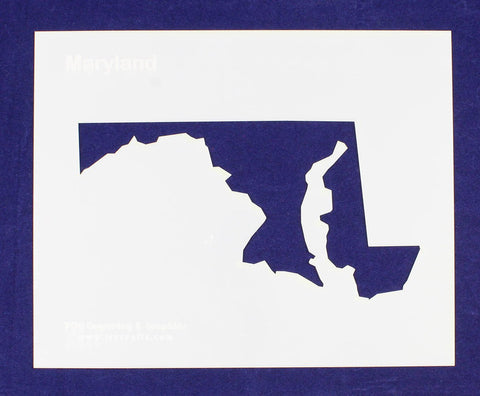 "State of Maryland Stencil 14 Mil 8"" X 10"" Painting /Crafts/ Templates"