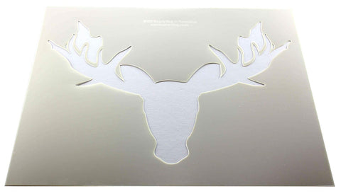 "Moose Head Stencil F-Mylar 14 Mil 14""H X 17.5""W - Painting /Crafts/ Templates"