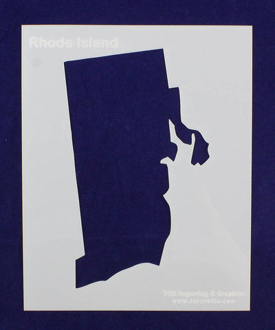 State of Rhode Island Stencil 14 Mil Mylar - Painting /Crafts/ Templates