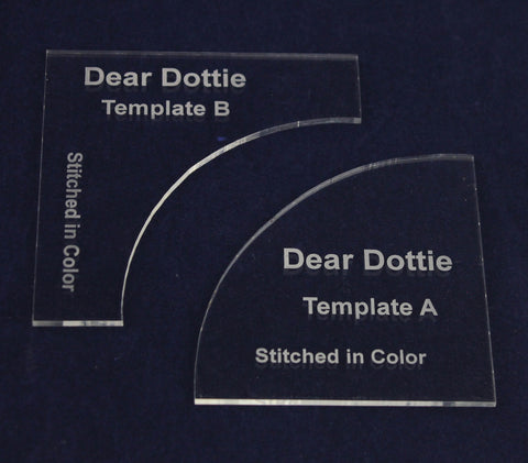 Dear Dottie Template Set Designed for use with the pattern created by Rachel Hauser of Stitched in Color