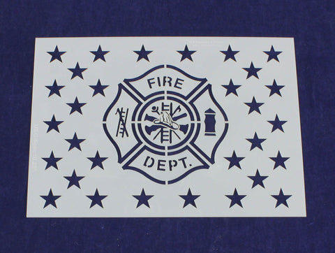 Fire Department Emblem Stencil 10.25 G-Spec