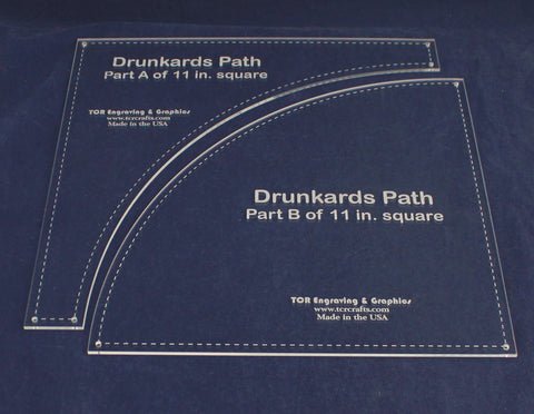 Drunkards Path Quilting Template-1/8 Inch Acrylic