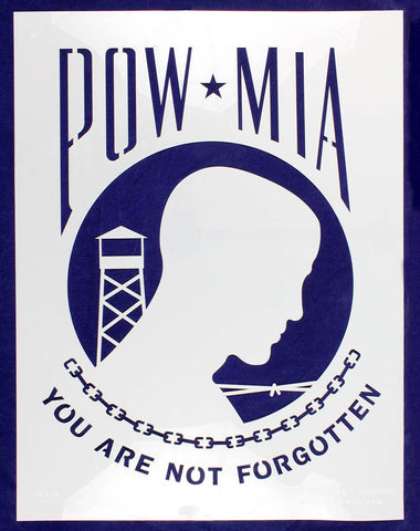 "POW-MIA Flag Stencil 18"" x 24"" Painting /Crafts/ Templates"