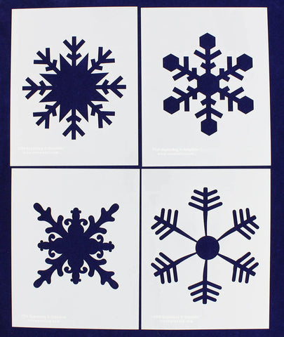 "Large Snowflake 4 Piece Stencil Set 14 Mil 8"" X 10"" Painting /Crafts/ Templates"