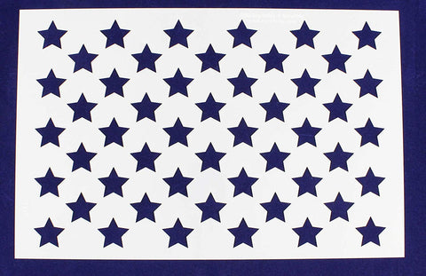"50 Star Field Stencil 14 Mil -17""W X 11""H - Painting /Crafts/ Templates"