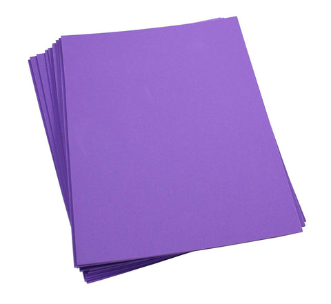 "Craft Foam -9"" x 12"" Sheets-Purple-10 Pack- 2mm thick"