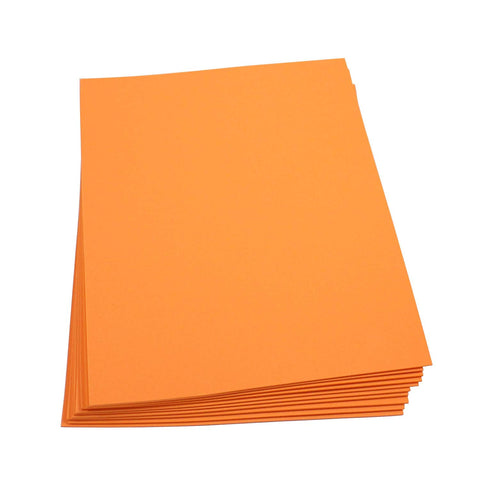 "Craft Foam -9"" x 12"" Sheets-Orange-10 Pack- 2mm thick"