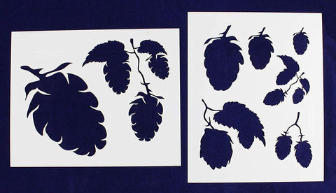 "Hops-2 Piece Stencil Set 14 Mil 8"" X 10"" Painting /Crafts/ Templates"